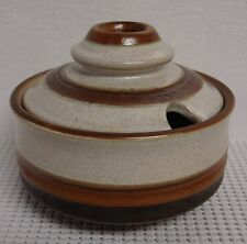 Denby POTTER'S WHEEL Sugar Bowl with Lid  RED RUST