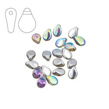 Preciosa Pip™ Czech Glass Beads Crystal Silver Rainbow Pck of 20 (M29/4)