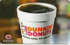 Dunkin' Donuts Cup of Hot Black Coffee American Runs 2013 Gift Card FD-38863