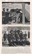 1896 MILITARY PRINT : DRILL WITH 22 TON CHASER GUN, REAR ADM. BUCKLE AND OFFICER