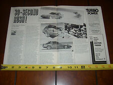 MAZDA RX7 BONNEVILLE CHALLENGER RACE CAR - ORIGINAL 1984 ARTICLE