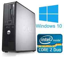Windows 10 dell optiplex ordinateur bureau tour pc intel 8GB ram 250GB disque dur wifi