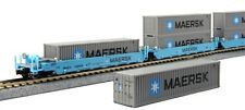 KATO N  Maxi-I 5-Double Stack 10  40' Containers  Maersk #100008  KAT1066190
