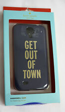 Kate Spade Samsung Galaxy Phone Case Cover Blue Get out of Town Hardshell NIP