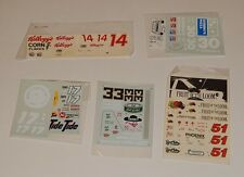 Lot of 5 Unused Nascar Model Car Kit DECALS  R8149