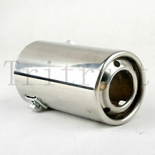 Car Stainless Steel EXHAUST Tail Muffler Tip Round Pipe Fit diameter 1 1/4-2 1/4