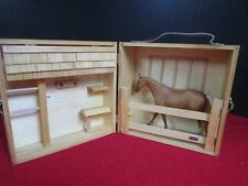 """Breyer HORSE STABLE with HORSE 6 1/2"""" by 8""""/ Wood Folding Barn"""