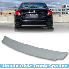 Unpainted Honda Civic 10th Saloon 4D DX  LX  V-Type Boot Trunk Spoiler 16 17