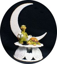 """ IT's ABOUT TIME"" Turtle Wedding Cake Topper Critter  top moonlight funny"