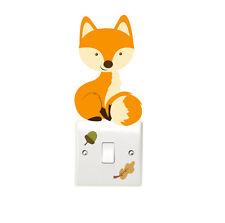 Woodland Fox 3pcs Light Switch Wall Sticker Children's Bedroom Playroom Fun