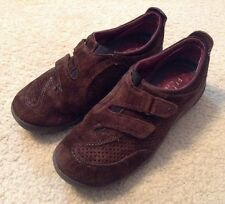 EUC! Womens Privo By Clarks Brown Suede Velcro Loafers Sz 6.5M