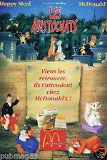 Publicité advertising 1994 Les Aristochats chez McDonald's