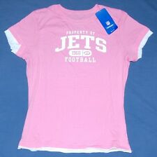 New York Jets Womens Reebok Property Of T-Shirt Pink M