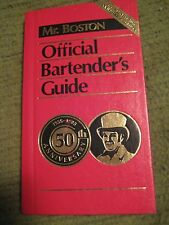 Vintage Original 1984 OLD MR BOSTON 50th Ann Official Bartenders Guide Hardcover