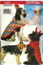 4601 UNCUT Butterick Sewing Pattern Costumes for Dogs Clown Princess Devil OOP