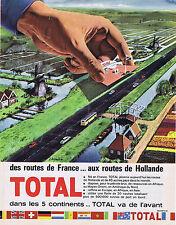 PUBLICITE ADVERTISING 064 1964 TOTAL des routes de France aux routes d'Hollande