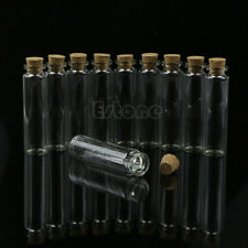 10 Pcs 20ml 22*80mm Empty Tiny Small Clear Cork Message Glass Bottles Vials