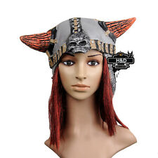 Adult Latex Scary Long Hair Pirate Mask Halloween Ball Party Fancy Dress Costume