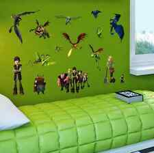 How To Train Your Dragon Movie Wall Sticker Boys Kids Children Room uk