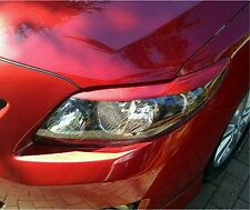 09 Corolla head light eyelid overlays eye brows Rally Red graphics film pre-cut