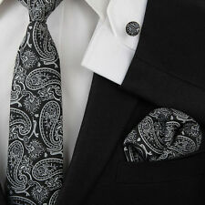 Classic Mens Ties Jacquard Woven Necktie Business Wedding Party Ties Set