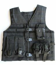 UTG Black Tactical Airsoft Molle Vest and Pouches