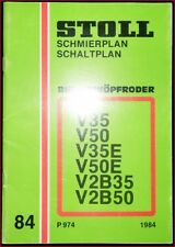 Stoll Bunkerköpfroder V 35 V 50 V 35 E V 50 E  V 2 B 50  Schmierplan Schaltplan