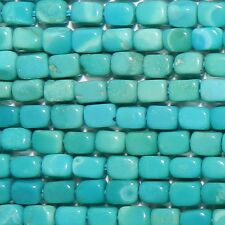 TX411 10-Strands SLEEPING BEAUTY Blue-Green Turquoise 4x2mm Square Tube Beads