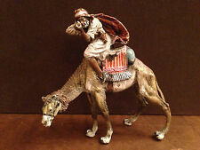 Austrian Cold Painted Polychrome Orientalist Bronze Marked Berman