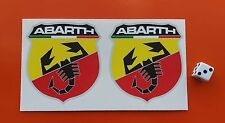 "ABARTH  Stickers 3"" 7-10 YEAR QUALITY VINY PRINTED WITH ECO SOLVENT INK / ROSSI"