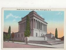House of The Temple Scottish Rite Washington DC Vintage USA Postcard 510a