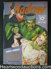 The Shadow  Feb 15, 1941 Gladney Cover The Chinese Primose - High Grade
