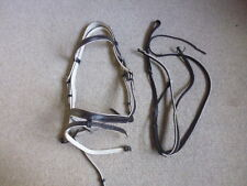 Stubben Flash Noseband Bridle + Matching Running Martingale brown/white fullsize