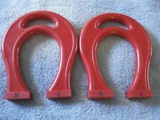 SET OF 2 DOWLING GIANT HORSESHOE MAGNETS (RED PLASTIC)