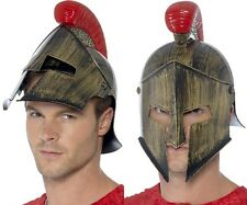 Mens Spartan Helmet Fancy Dress Hat Roman Greek Helmet New by Smiffys