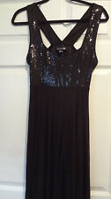 Forever 21 Black Sequin Criss cross Dress Size Medium