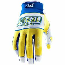 O'Neal Oneal Jump Ultra-Lite LE '83 motocross gloves blu/yel adult sz 8 SMALL