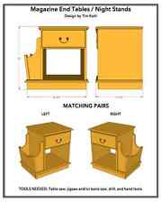 Magazine Table / Nightstand Woodworking Plans