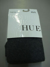 NWT Women's Hue Flat Knit Sweater Tights Size XS/S Graphite Heather #203T