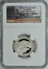 2011-S OLYMPIC CLAD PROOF QUARTER 25c EARLY RELEASES NGC PF70 ULTRA CAMEO