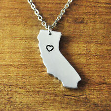 I heart California alloy map necklace,personalized pendant jewelry,State Charm