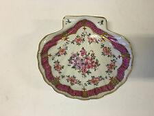 Vintage French Samson Porcelain Hand Painted Shell Dish in Chinese Export Style