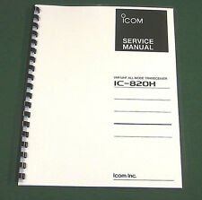 Icom IC-820H Service Manual - Premium Card Stock Covers & 28 LB Paper!