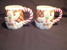 Gingerbread Man & Woman Mugs by Christmas Around the World House of Lloyd 2000