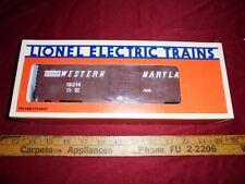 LIONEL TRAIN WM WESTERN MARYLAND RAILROAD BOX CAR 6-19214 O gauge