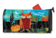 Happy Owloween Mail Box Wrap Halloween owl magnetic mailwrap mailbox cover