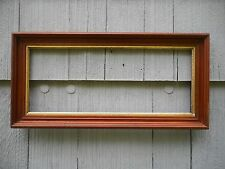 Antique Long Walnut Deep Shadowbox Style Picture Frame fits 8 x 20