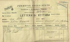 Ferrovie dello Stato Spedizione Lettera Vettura Vino Barolo Marchesa Pancrazi