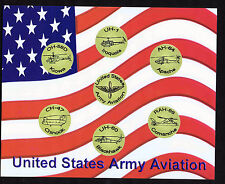 US Army Aviation Helicopter Prints (Set of 3)- Apache-Blackhawk-Huey-Chinook