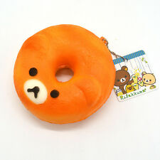 Licensed Cartoon Rilakkuma Donuts Soft Squishy Scented With Tag Ballchain Toy
